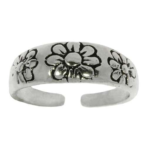 Zehenring Silber 925 Blume