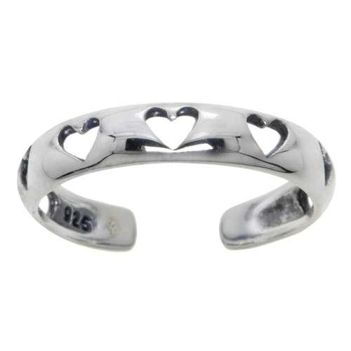 Zehenring Silber 925 Herz Liebe