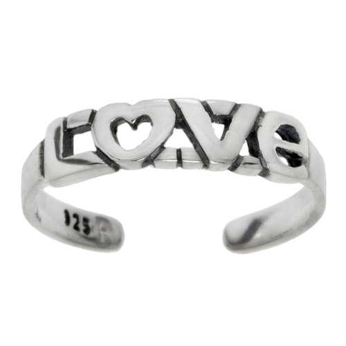 Zehenring Silber 925 Herz Liebe Love Liebe