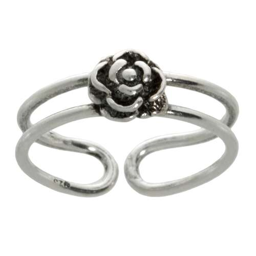 Zehenring Silber 925 Silber 925 Blume