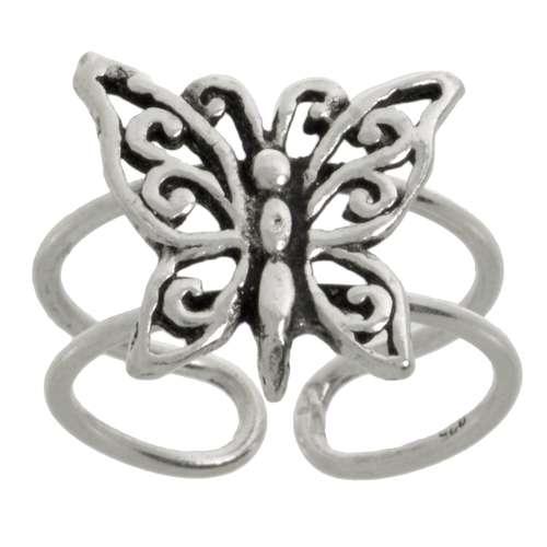 Zehenring Silber 925 Schmetterling Sommervogel