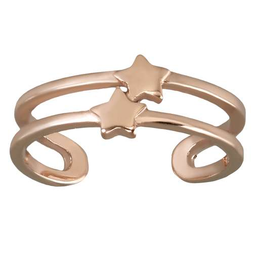 Zehenring Edelstahl PVD Beschichtung (goldfarbig) Stern