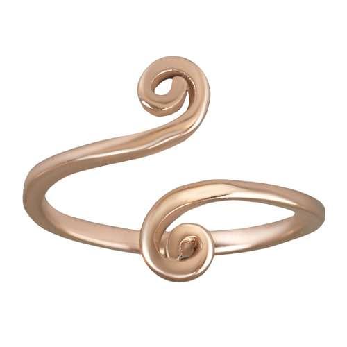 Zehenring Edelstahl PVD Beschichtung (goldfarbig) Spirale