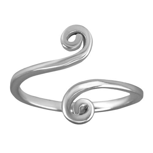 Zehenring Edelstahl Spirale