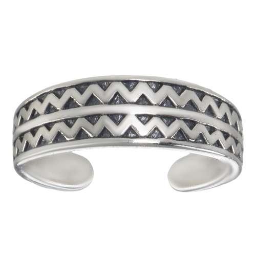 Zehenring Silber 925 Welle Dreieck