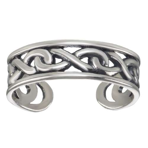 Zehenring Silber 925 Ewig Schlaufe Endlos Tribal_Zeichnung Tribal_Muster