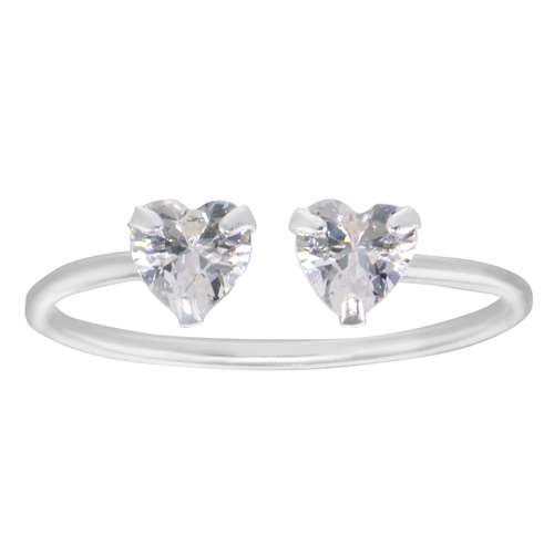 Zehenring Silber 925 Kristall Herz Liebe
