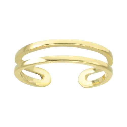 Zehenring Edelstahl PVD Beschichtung (goldfarbig) Spirale Streifen Rillen Linien