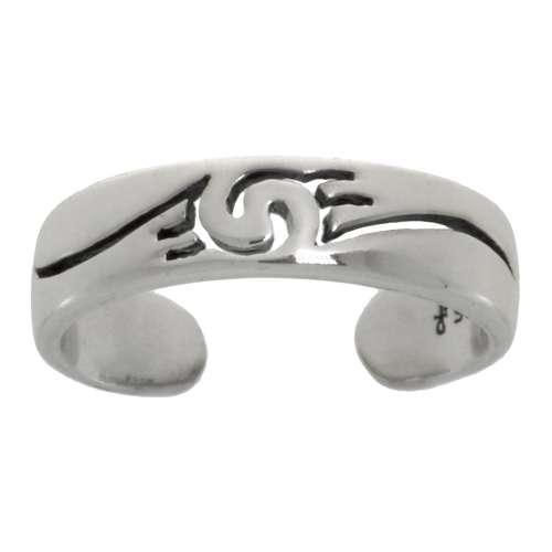 Zehenring Silber 925 Spirale Tribal_Zeichnung Tribal_Muster