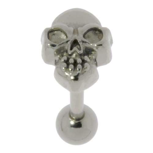 Zungenpiercing Chirurgenstahl 316L Totenkopf Schädel Knochen