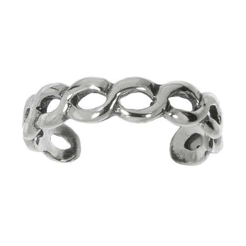 Fingerring Silber 925 Ewig Schlaufe Endlos Welle