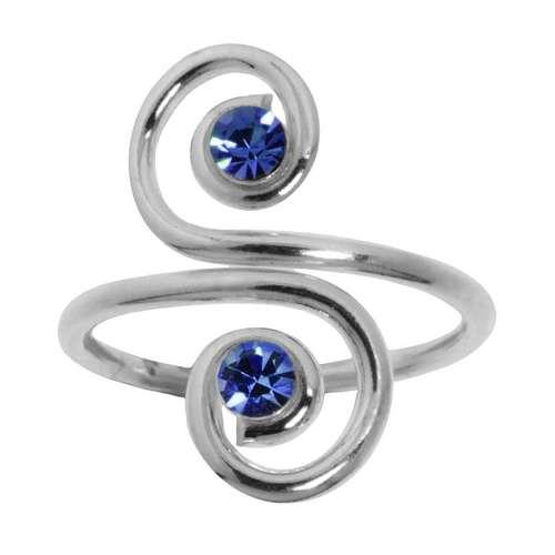 Anello Argento 925 Cristallo Spirale