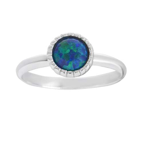 Anello Argento 925 Synthetic opal