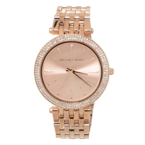 Michael Kors  Stainless Steel Mineral glass Crystal