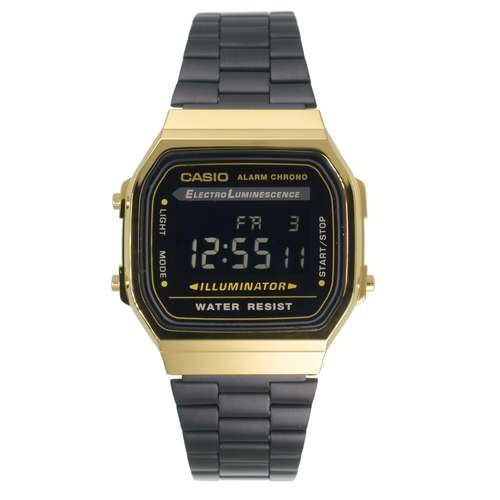 CASIO Digitaluhr Edelstahl Resin