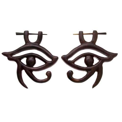 Orecchini Legno di sono Occhio Iride Pupilla
