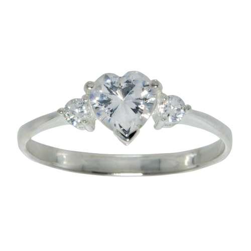Fingerring Silber 925 Zirkonia Herz Liebe Love Liebe