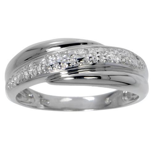 Fingerring Silber 925 Zirkonia Streifen Rillen Linien