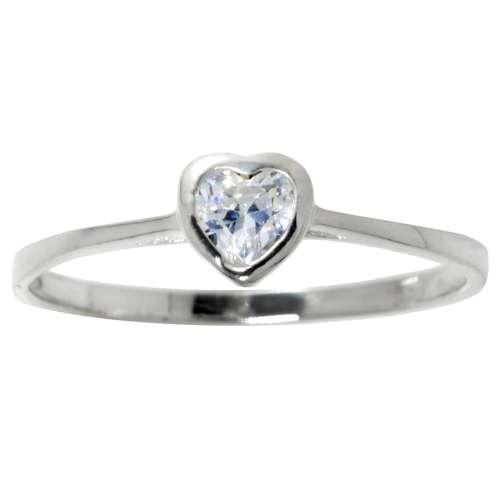 Fingerring Silber 925 Zirkonia Herz Liebe