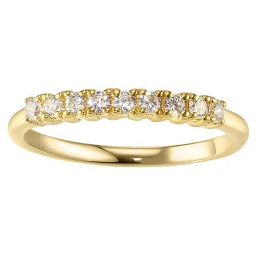 Fingerring Silber 925 PVD Beschichtung (goldfarbig) Zirkonia