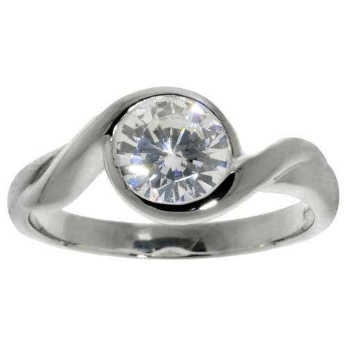 Fingerring Silber 925 Kristall
