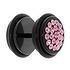 Fake plug Acero quirúrgico Revestimiento PVD (negro) cristales de Swarovski PVC
