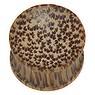 Plug Kokosholz Tierfell Tiermuster Fellmuster