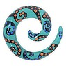 Plug Krokodilholz Spirale Tribal_Zeichnung Tribal_Muster