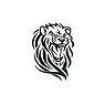 Fake-Tattoo Tribal_Zeichnung Tribal_Muster Löwe