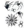 Fake-Tattoo Spinne Spinnennetz
